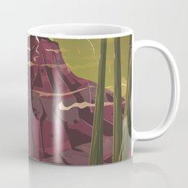 Erupting Volcano in the Swamp Cartoon Coffee Mug