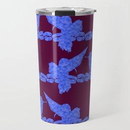 Purple Hummingbirds on Ultraviolet Line Travel Mug