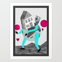 globe Art Prints featuring GLOBE by Vértice Design Studio