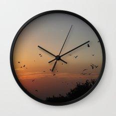migrating birds Wall Clock