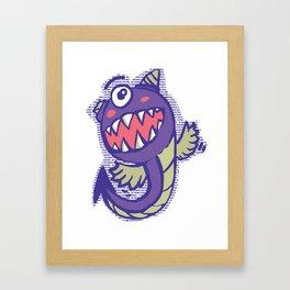 Purple Eater Framed Art Print