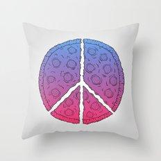 Peace & Pizza Throw Pillow