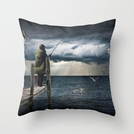 The Fish Are In Throw Pillow