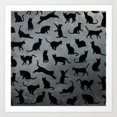 Cats pattern Art Print