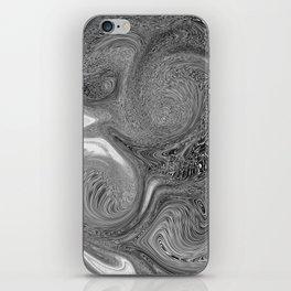 Monochrome swirl iPhone Skin