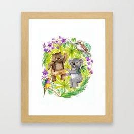 Australian Animals Party Framed Art Print