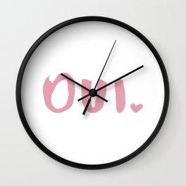 oui #1 Wall Clock