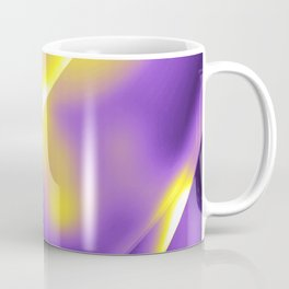 Nonbinary Pride Simple Gleaming Overlapping Curves Coffee Mug