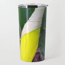 yellow crocus bud Travel Mug