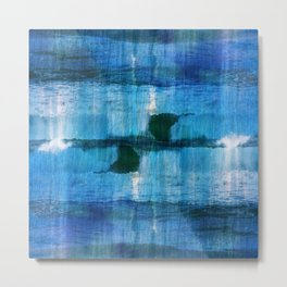 Abstract ocean textured view Metal Print