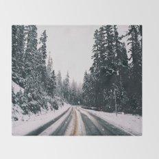 Winter Drive Throw Blanket