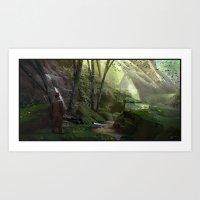 Jungle Ruins Art Print
