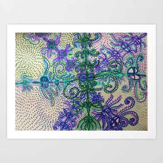 Waking and Dreaming Art Print
