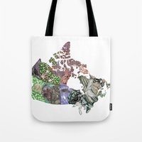 canada Tote Bags featuring Canada by minouette