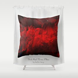 Dark Red Throw Pillow Art Print 3.0 #postmodernism #society6 #art Shower Curtain