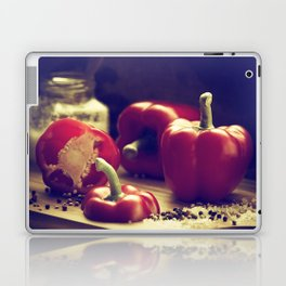 Fresh red peppers in retro still life Laptop & iPad Skin