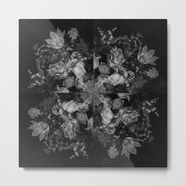 Botanical Darkness Kaleidoscope Metal Print