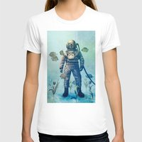 diver T-shirts featuring Deep Sea Garden  by Terry Fan