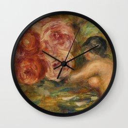 """Auguste Renoir """"Roses et Étude de Gabrielle"""" Wall Clock"""