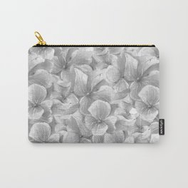 Elegant gray white hand painted watercolor floral Carry-All Pouch