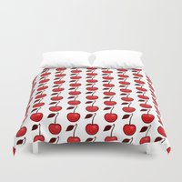 cherry Duvet Covers featuring Cherry by René Barth