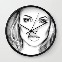 Angelina Jolie fanart Wall Clock