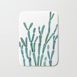 Succulent rhipsalis watercolor Bath Mat