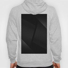 White lines on Black Hoody
