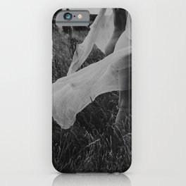 Femininity is not just a lipstick | Fine art photo print woman nude and free in nature iPhone Case