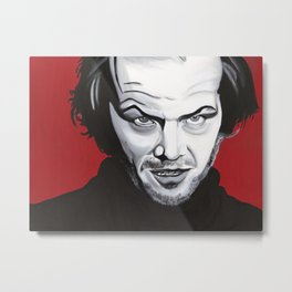 """Jack Nicholson- """"REDRUM"""" Metal Print"""