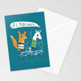 Fausto Fox and Junicorn Bikers Stationery Cards