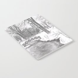Snowy Landscape Notebook