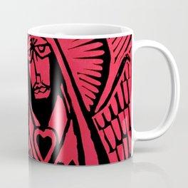 Me - Red - Traditional Surrealism Print Coffee Mug