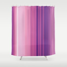 Abstract Vertical Violet and pink stripes Shower Curtain