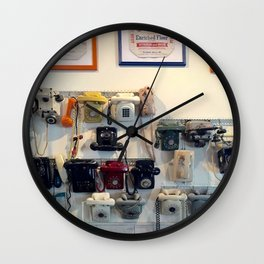 Vintage Telephones Wall Clock