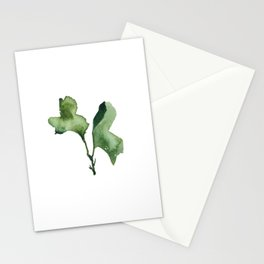 Green Seaweed Watercolor no. 2 Stationery Cards