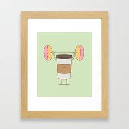 strong coffee workout Framed Art Print
