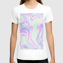 Iridescent Marble Effect T-shirt