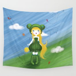 La princesse grenouille au ballon d'or Wall Tapestry