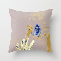 ghost Throw Pillows featuring Ghost by Joshua Kemble