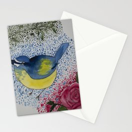 Bluebird with Rose Stationery Cards