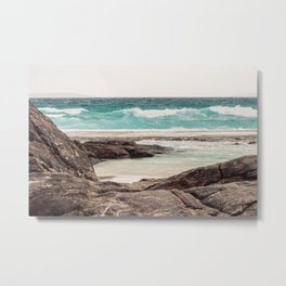 Watching the Waves Roll In Metal Print