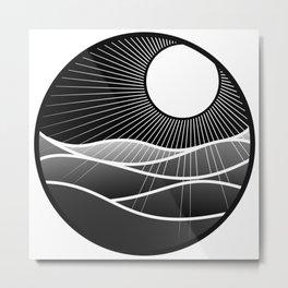 The sun and the sea  Metal Print