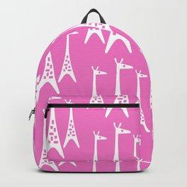Mid Century Modern Giraffe Pattern 221 Pink Backpack