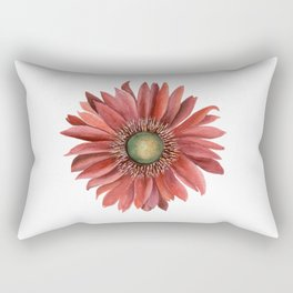 Red Gerbera Rectangular Pillow