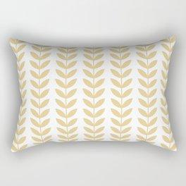 Tan Scandinavian leaves pattern Rectangular Pillow