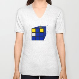 Time and Relative Dimensions in Squares Unisex V-Neck
