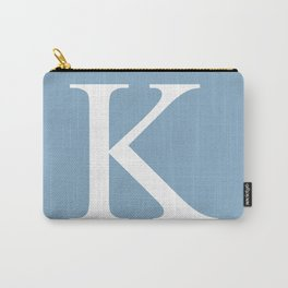 Letter K sign on placid blue background Carry-All Pouch