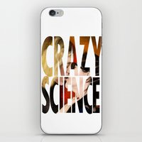 cosima iPhone & iPod Skins featuring Crazy Science by Monika Gross