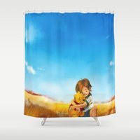 alicexz Shower Curtains featuring Everything is Right by Alice X. Zhang